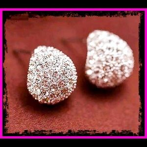 🆕 Sterling Silver White Sapphire Stud Earrings